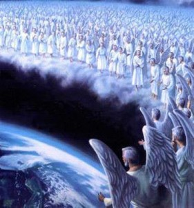 Jesus--2nd coming--Jesus and angels coming to take us home