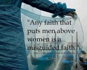 equality--faith that puts men above women is misguided