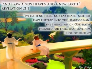 heaven--no eye has seen, nor ear heard what God has prepared for those who love Him
